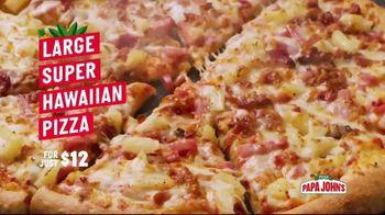 Papa John's Super Hawaiian Pizza TV Spot, 'Say Aloha' Song by The Ventures - Thumbnail 3