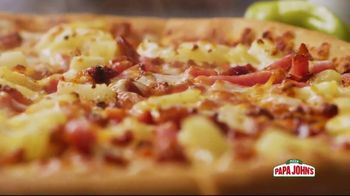 Papa John's Super Hawaiian Pizza TV Spot, 'Say Aloha' Song by The Ventures