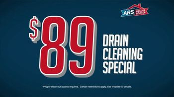 ARS Rescue Rooter $89 Drain Cleaning Special TV Spot, 'Clogged Drains' - Thumbnail 3