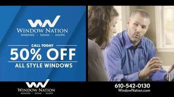 Window Nation 50 Percent Off Sale TV Spot, 'All Style Windows & Free Blinds' - Thumbnail 1