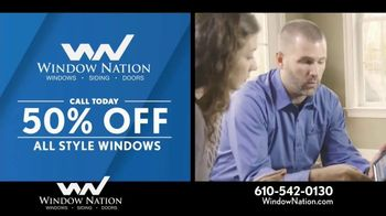 Window Nation 50 Percent Off Sale TV Spot, 'All Style Windows & Free Blinds' - Thumbnail 2