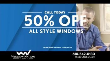 Window Nation 50 Percent Off Sale TV Spot, 'All Style Windows & Free Blinds' - Thumbnail 3