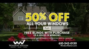 Window Nation 50 Percent Off Sale TV Spot, 'All Style Windows & Free Blinds' - Thumbnail 6