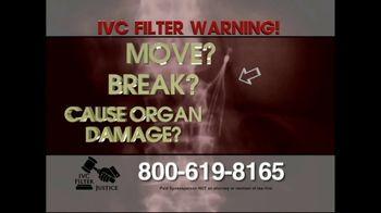 IVC Filter Justice TV Spot, 'Complications' - Thumbnail 1
