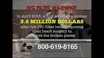 IVC Filter Justice TV Spot, 'Complications' - Thumbnail 5