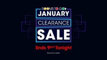 Rooms to Go January Clearance Sale TV Spot, 'Last Chance to Save: Monday' - Thumbnail 6