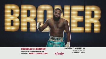 XFINITY On Demand TV Spot, 'Welterweight World Championship: Pacquiao vs. Broner' - Thumbnail 2