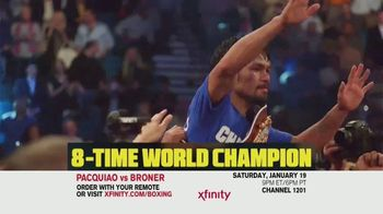 XFINITY On Demand TV Spot, 'Welterweight World Championship: Pacquiao vs. Broner'