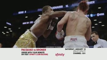 XFINITY On Demand TV Spot, 'Welterweight World Championship: Pacquiao vs. Broner' - Thumbnail 5