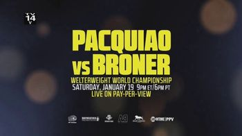 XFINITY On Demand TV Spot, 'Welterweight World Championship: Pacquiao vs. Broner' - Thumbnail 8