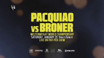 XFINITY On Demand TV Spot, 'Welterweight World Championship: Pacquiao vs. Broner' - Thumbnail 9