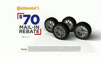 National Tire & Battery TV Spot, 'Continental Tires: Mail-In Rebate & Oil Change'