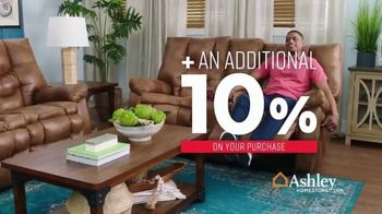 Ashley HomeStore One Day Sale TV Spot, 'Additional Savings: Sofas & Mattresses' Song by Midnight Riot - Thumbnail 4