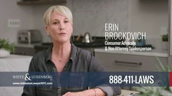 Weitz and Luxenberg TV Spot, 'Asbestos' Featuring Erin Brockovich
