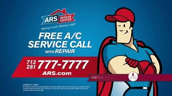 ARS Rescue Rooter Free A/C Service Call Special TV Spot, 'Fan Wall' - Thumbnail 10