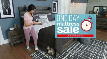 Ashley HomeStore One Day Mattress Sale TV Spot, 'Extended: Pillow Top Queen Mattresses' Song by Midnight Riot - Thumbnail 2