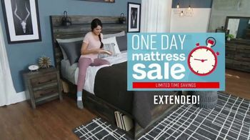 Ashley HomeStore One Day Mattress Sale TV Spot, 'Extended: Pillow Top Queen Mattresses' Song by Midnight Riot - Thumbnail 3