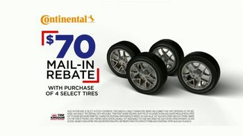 Tire Kingdom TV Spot, 'Continental Tires: Buy Three, Get One & Mail-In Rebate' - Thumbnail 7