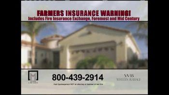 Marr Law Firm TV Spot, 'Farmers Insurance Warning' - Thumbnail 1