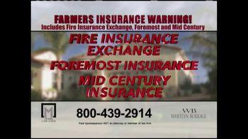 Marr Law Firm TV Spot, 'Farmers Insurance Warning' - Thumbnail 3