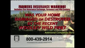 Marr Law Firm TV Spot, 'Farmers Insurance Warning' - Thumbnail 4