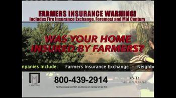 Marr Law Firm TV Spot, 'Farmers Insurance Warning' - Thumbnail 5