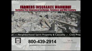 Marr Law Firm TV Spot, 'Farmers Insurance Warning' - Thumbnail 6