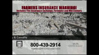 Marr Law Firm TV Spot, 'Farmers Insurance Warning' - Thumbnail 7