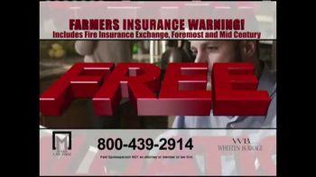 Marr Law Firm TV Spot, 'Farmers Insurance Warning' - Thumbnail 8