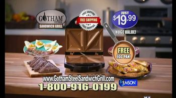 Gotham Steel Sandwich Grill TV Spot, 'Perfectly Cooked: Free Shipping' Featuring Daniel Green - Thumbnail 10