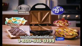 Gotham Steel Sandwich Grill TV Spot, 'Perfectly Cooked: Free Shipping' Featuring Daniel Green - Thumbnail 8