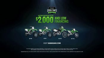 Kawasaki Good Times Sales Event TV Spot, 'Roll' Featuring Axell Hodges - Thumbnail 8