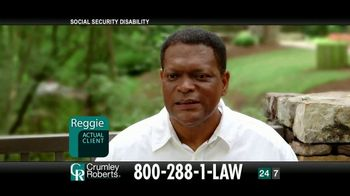 Crumley Roberts TV Spot, 'Reggie: Social Security Disability' - Thumbnail 1
