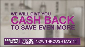 Cabinets To Go TV Spot, 'May Cash Back' - Thumbnail 5
