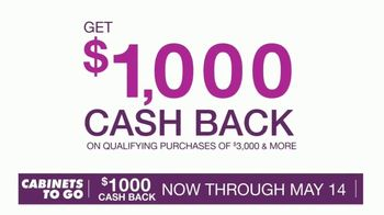 Cabinets To Go TV Spot, 'May Cash Back' - Thumbnail 6