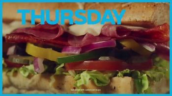 Subway Sub of the Day TV Spot, 'Make It Count: $3.99' - Thumbnail 8