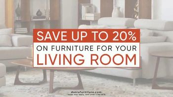Dania Living Room Event TV Spot, 'Save Up to 20 Percent'