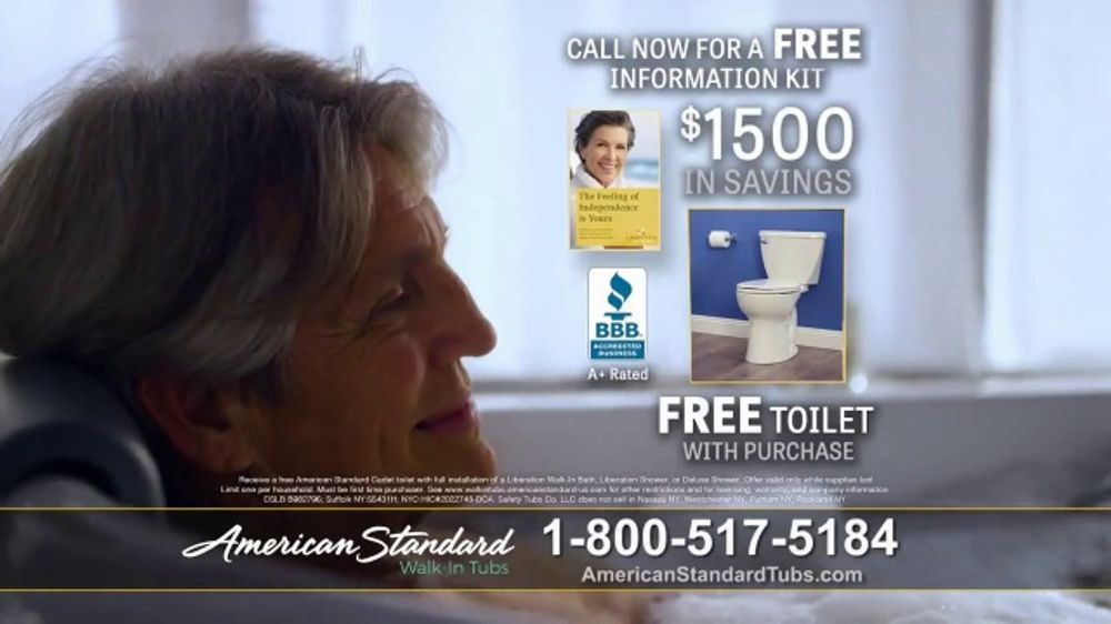 American Standard Walk In Tubs Tv Commercial Help
