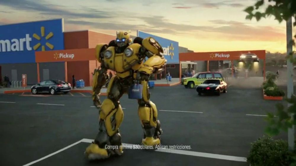 Walmart Grocery Pickup TV Commercial, 'Famous Cars: Bumblebee' canción de  Gary Numan [Spanish] - Video