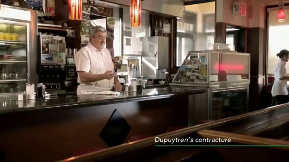 Endo Pharmaceuticals TV Commercial, 'Dupuytren's Contracture: Diner'