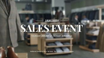 JoS. A. Bank January Sales Event TV Spot, 'Suits, Wool Coats & Sweaters' - Thumbnail 8