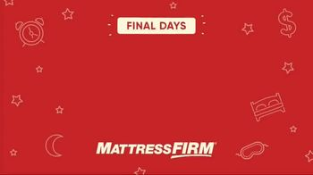 Mattress Firm Save Big Sale TV Spot, 'Final Days' - Thumbnail 1