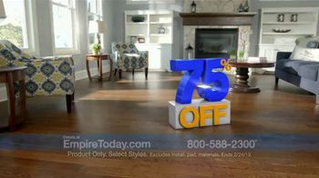 Empire Today 75 Percent Off Sale TV Spot, 'Save Big on Beautiful New Floors' - Thumbnail 2