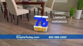 Empire Today 75 Percent Off Sale TV Spot, 'Save Big on Beautiful New Floors' - Thumbnail 4