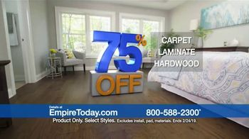 Empire Today 75 Percent Off Sale TV Spot, 'Save Big on Beautiful New Floors' - Thumbnail 9