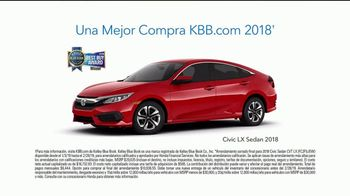 2018 Honda Civic LX Sedan TV Spot, 'Wedding Dress' [Spanish] [T2] - Thumbnail 7