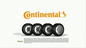 National Tire & Battery TV Spot, 'Buy Three, Get One Free: Continental Rebate'