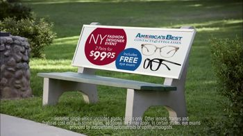 America's Best Contacts and Eyeglasses NY Fashion Designer Event TV Spot, 'Bird Bath' - Thumbnail 5