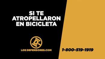 Los Defensores TV Spot, 'Si te atropellaron andando en bicicleta' con Jorge Jarrín [Spanish]