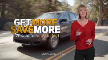 Honda Get More Save More Sales Event TV Spot, 'More Tech, Safety & Savings' [T2] - Thumbnail 2